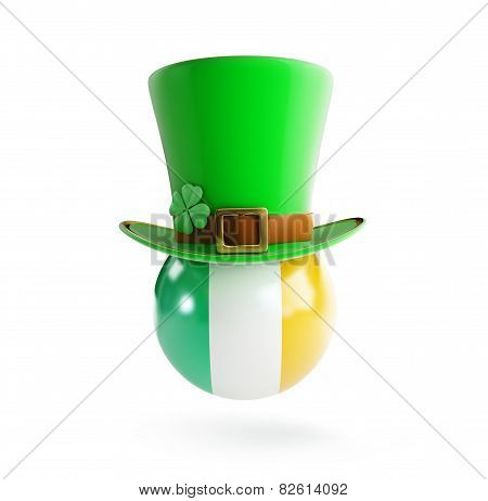 St. Patrick's Hat Flag Of Ireland