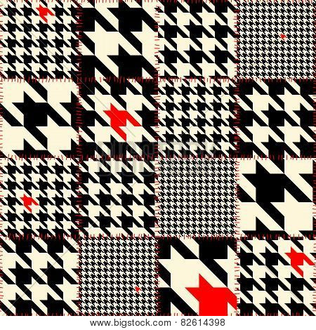 Patchwork of houndstooth