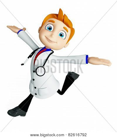 Doctor With Run Pose