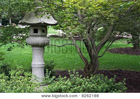 Japanese Stone Garden Lantern