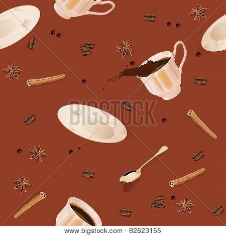 Seamless pattern. Coffee