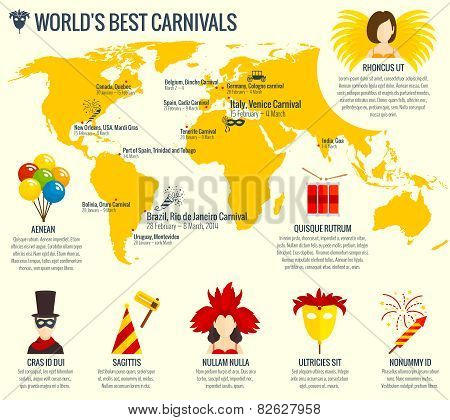 Carnival infographic poster print