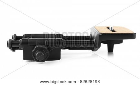Tripod of camera isolated on white