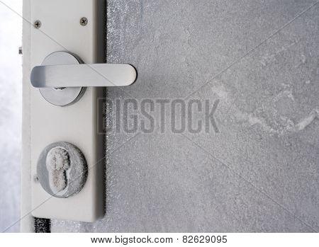 Frozen Castle On Glass Doors