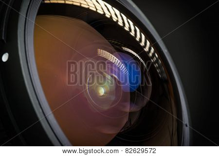 reflection on camera lens