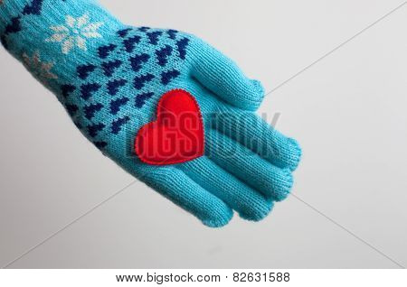 Read Heart In Hand In Warm Glove For Valentine's Day