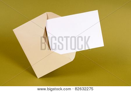 Envelope With Blank Message Card