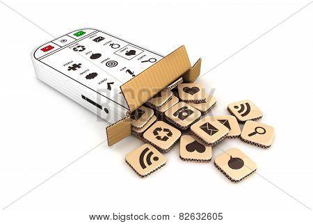 3d smartphone cardboard box