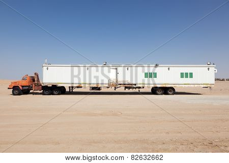 Semitrailer In The Desert
