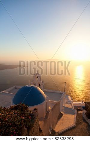 Famous church in Fira Santorini