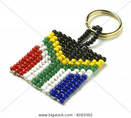 South African Flag Keyring From Above