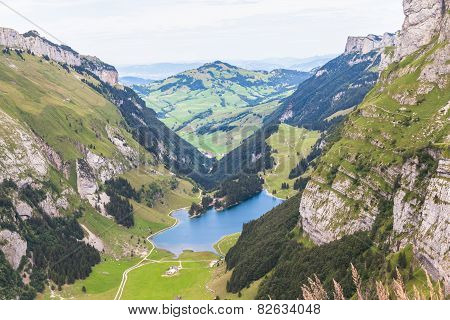 Aerial View Of Seealpsee (lake)