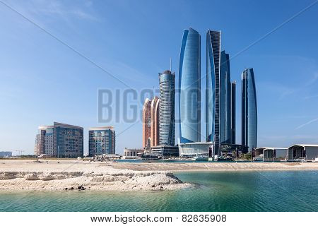 Etihad Towers In Abu Dhabi City