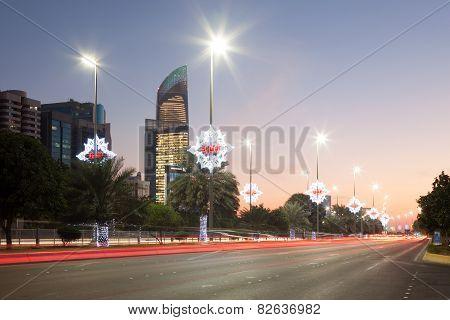 Corniche Street In Abu Dhabi