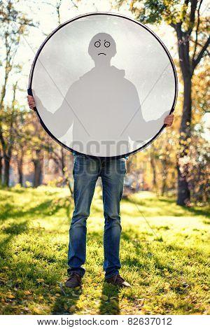 Boy With Reflector