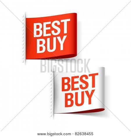 Best buy labels. Vector.