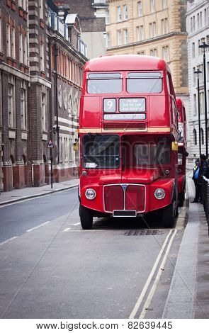 old red London bus