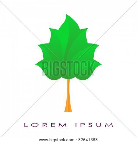 Vector illustration of a tree on a white background