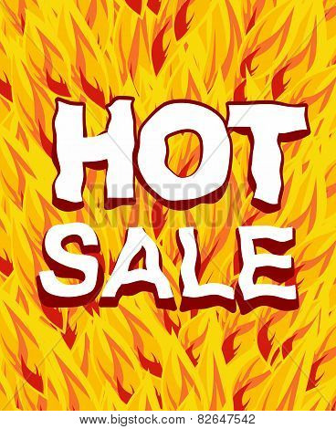 Hot Sale On A Background Fire