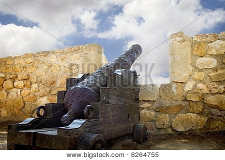 Medieval Canon At Morrow, Denia Spain