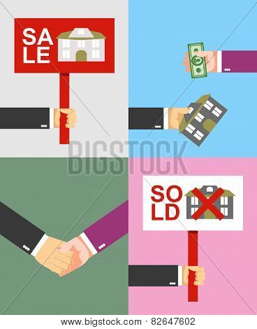 Set. The Sale Of The Home. Plate. Buying A Home. The Text Sold, Sales. The Deal