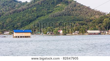 Fishing Huts In The Sea