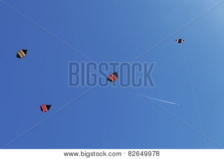 colorful kites in the blue sky