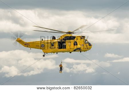 Royal Navy Sea King Helicopter