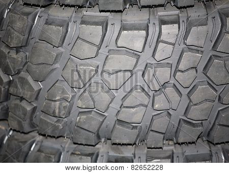 Part Of Brand New Car Tyre