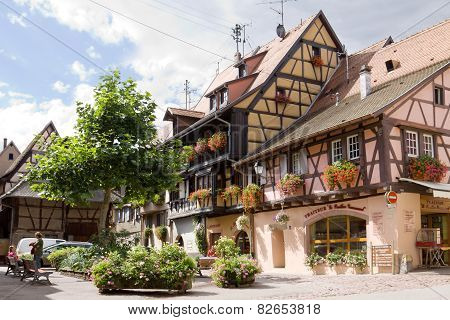 Eguisheim Village In France In A Sunny Day