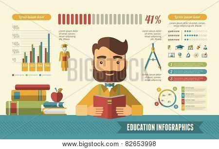 Education Infographic Elements.