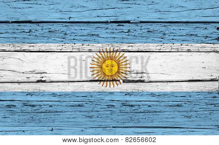 Argentina Flag Grunge Background