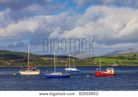 Boats in Gourock bay