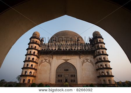 Framed Golgumbaz Main Entrance Arch South Facade