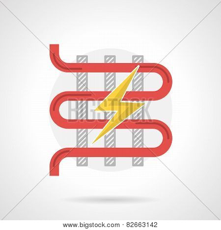 Colorful vector icon for electric heated floor