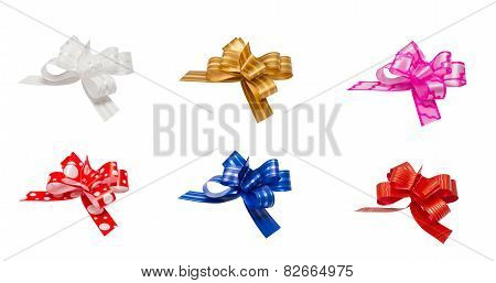 ribbon bows - red, pink, blue, gold - all colors collection