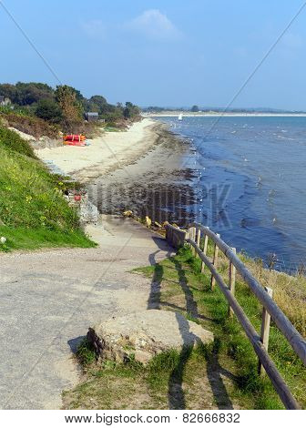 Studland middle beach Dorset England UK located between Swanage and Poole and Bournemouth