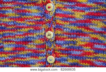 colourful kids knitted cardigan background