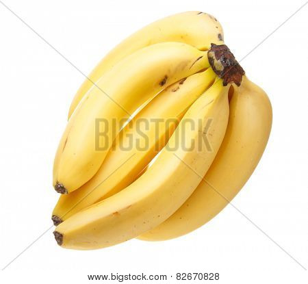 A bunch of bananas isolated on white background