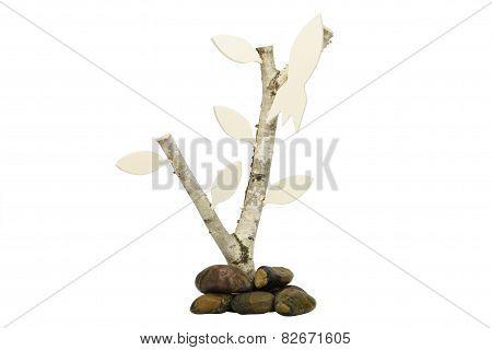 Birchwood with wooden rocket