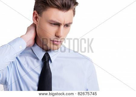 Businessman Feeling Exhausted
