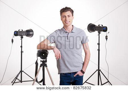 Photographer In Studio.