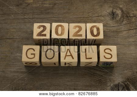 2020 goals - New Year resolution concept