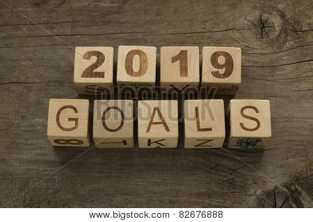 2019 goals - New Year resolution concept