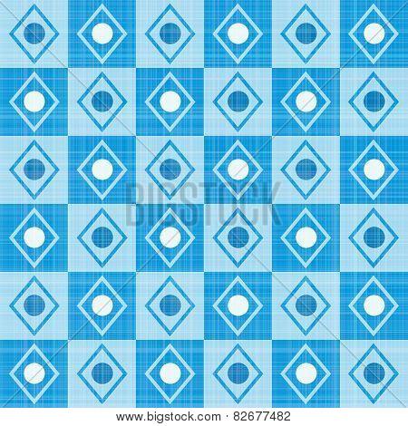Pastel retro blue stripes mosaic plaid