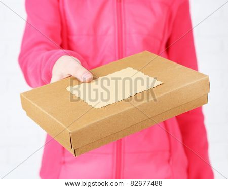 Courier with parcel box