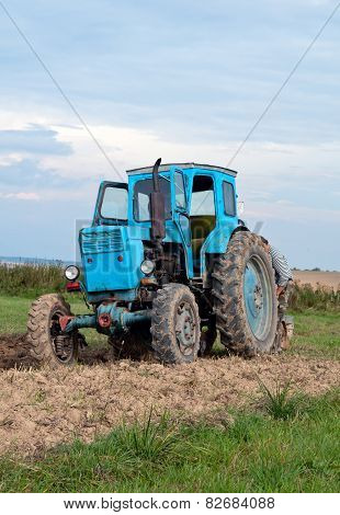 Blue Old Tractor