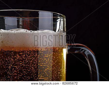 A Mug Of Light Beer.