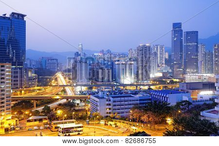 hongkong modern asia city night
