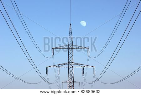High Voltage Line Centered